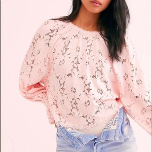 Free People NWT Olivia Lace Top XS